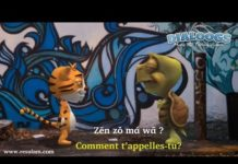 Dialogue en langue nufi: Dessin anime (cartoon): Conversation avec un etranger